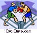 Boxers sparring Vector Clip Art graphic