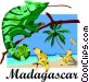 Madagascar postcard design Vector Clipart image