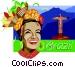 Brazil postcard design Vector Clip Art image