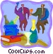Office party Vector Clip Art picture