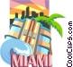 Miami Florida Vector Clip Art image