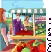 farmers market Vector Clipart image