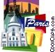 Paris motif Vector Clipart image
