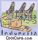 Indonesia Vector Clipart illustration