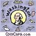 Washington Vector Clipart illustration