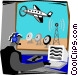 air traffic controller Vector Clipart picture