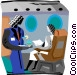 stewardess with cocktails Vector Clipart picture