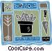 gardening spade Vector Clip Art graphic