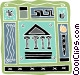 Greece Parthenon Olympic flame Vector Clipart picture