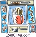 French fry potatoes Vector Clipart image