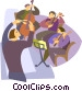 playing instruments in an orchestra Vector Clipart image