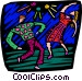 two people dancing at a night Vector Clipart graphic