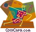 Person bowling Vector Clip Art graphic