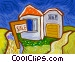House for sale Vector Clip Art picture