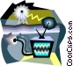 television transmission Vector Clipart graphic