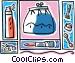 purse lipstick Vector Clipart graphic