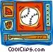 baseball diamond Vector Clip Art graphic