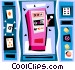 slot machine cards Vector Clipart graphic