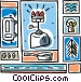 camping propane light Vector Clipart graphic