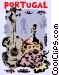 Portuguese wine with a guitar Vector Clipart graphic