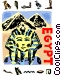 Egyptian sphinx with pyramids Vector Clipart picture