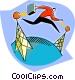 Transmitting information Vector Clip Art image