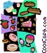 dessert motif Vector Clipart graphic