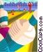 Bowler bowling ball Vector Clipart image