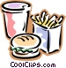 fast food Vector Clip Art image