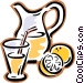 Lemonade, jug of juice Vector Clip Art graphic
