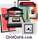 printer press Vector Clip Art graphic