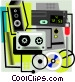 stereo equipment Vector Clipart illustration