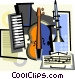musical instruments Vector Clip Art image