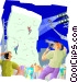 indoor wall climbing Vector Clip Art image