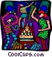 birthday party Vector Clipart image