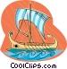 Viking ship Vector Clipart illustration