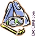 snorkeling equipment Vector Clip Art picture