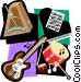 music motif Vector Clip Art graphic