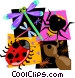 insect lady bug Vector Clip Art image