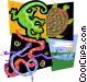 reptile motif Vector Clip Art image
