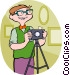 man with a camera Vector Clip Art image