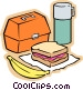 Child's school meal Vector Clipart picture
