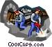 mining Vector Clip Art image