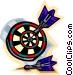Darts in dartboard Vector Clip Art image