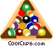 Pool balls Vector Clipart graphic