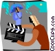 television production Vector Clipart image