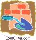 brick wall Vector Clipart image