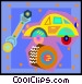 auto repair on decorative Vector Clipart graphic