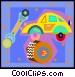 auto repair on decorative Vector Clipart graphic