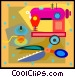 sewing machine thread and Vector Clip Art graphic